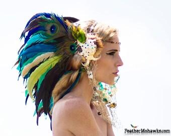 """Mermaid Shell Headdress  - """"La Sirena"""""""