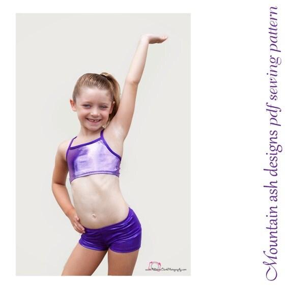 Gymnastics Pattern Training Wear Separates 1 pdf sewing pattern gymnastics dance swim
