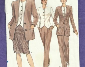 Vogue 7844 Modern Four  Piece Lady's Suit  Slimming  Size 6-8-10