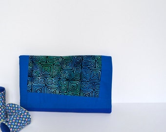 Blue Baby Blanket, Baby Bedding, Blue, Swaddling Blanket, Geometric