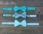 Boys Bow Tie, Teal Bow Tie, Aqua Bow Tie, Blue Bow Tie, Toddler Bow Tie, Wedding Ring Bearer, Cake Smash