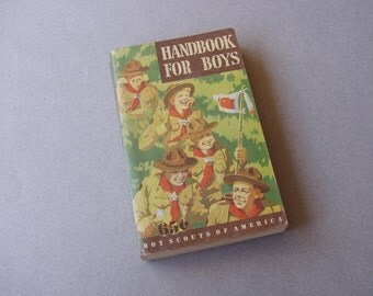 Vintage 1948 Boy Scout Handbook For Boys 40s Boy Scouts of America