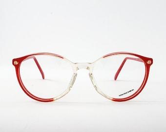 Vintage Round Tauschek Frames. Glossy Red-Transparent Frames.