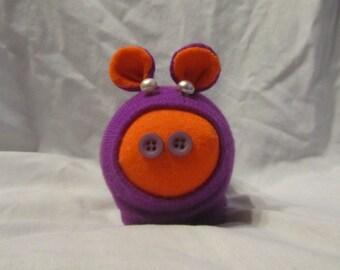 Handmade Purple Sock Pig Piggie Plush Toy