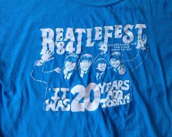 80s Vintage Beatles Fest 1984 T-Shirt - SMALL