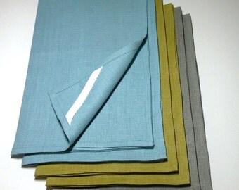 3 Belgian Linen Tea Towels Dish Towels//65 COLORS//SET OF 3