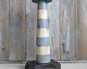 Wooden Lighthouse - Decorative Wooden Lighthouse - Nautical Decoration - Seaside - Handmade Wooden Vintage Style Lightouse