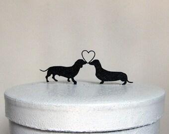 Wedding Cake Topper - Dachshund Dogs Wedding