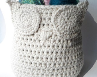 Crochet Pattern Owl Basket Crochet Pattern Home Decor Crochet Owl Pattern Crochet Basket Pattern Crochet Owl Bin Container Pattern