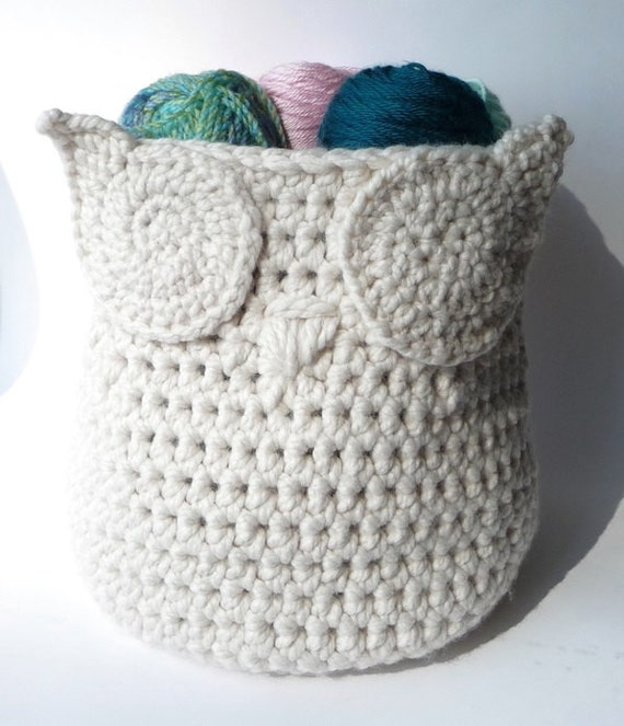 Crochet Pattern Owl Basket Crochet Pattern Home Decor Crochet Owl ...