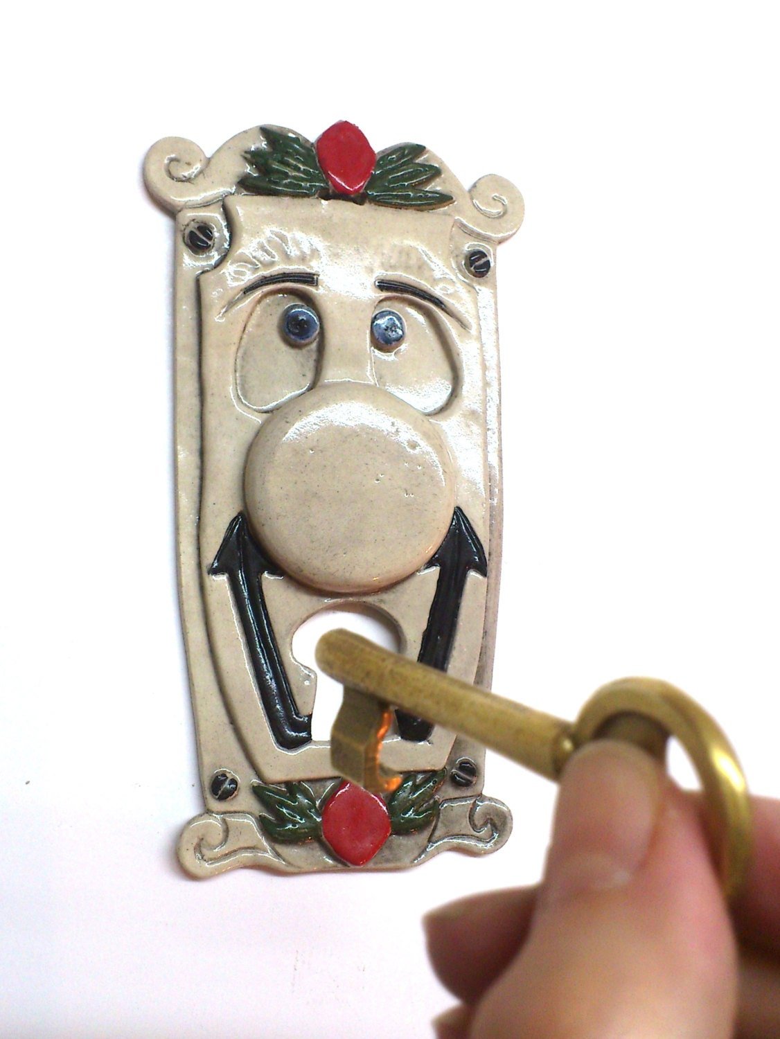 Alice in wonderland doorknob sculptural ceramic by for Alice in wonderland door knob disney decoration