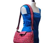 Unique Handbag, Shoulder Bag, Overnight Bag, Crochet Bag, Crochet Handbag, Ladies Handbag, One Of A Kind, Designer Handbags by Sue Maun