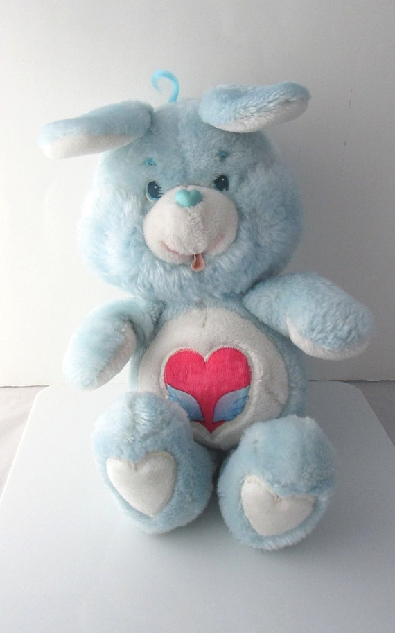 care bears swift heart bunny stuffed plush toy vintage 1980s