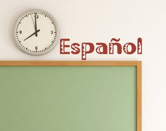 "Spanish Class Decor ""Espanol"" - Spanish Class - Spanish Classroom Decor - Teacher Decoration  - Class Decor - Teacher Decoration"