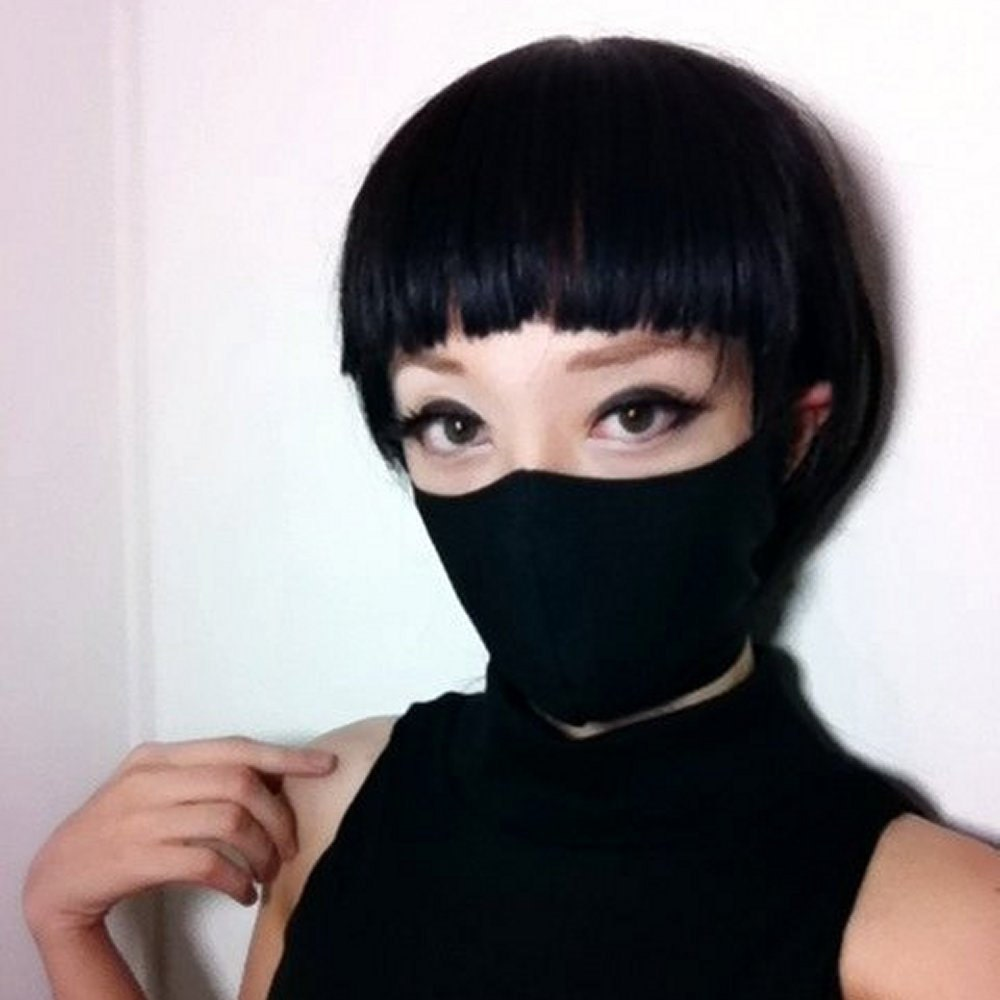 Black t shirt ninja mask - Black Ninja Mask Jrock Style Gothic Fashion Punk Mask Kakashi Cosplay Ninja Costume Visual Kei