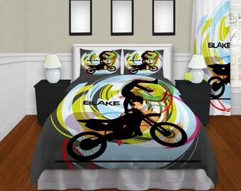 Motocross Duvet Cover Kids Bedding Kids By Eloquentinnovations
