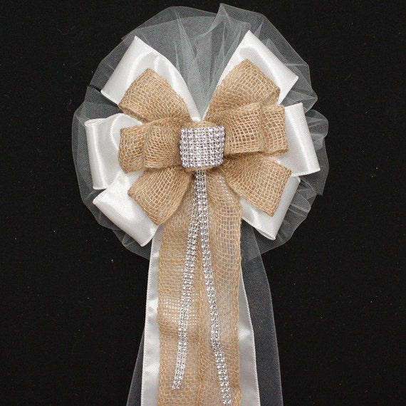 Bling And Burlap Rustic Wedding Bows