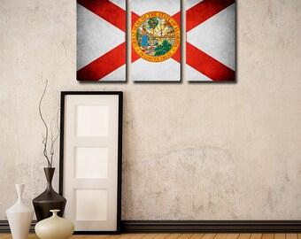 Florida Flag Triptych (w/ Free Shipping!)