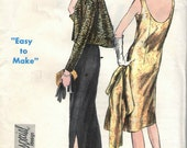 Vintage 1960s Vogue Sewing Pattern 5675- Evening Dress and Jacket size 14 Bust 34 Hip 36