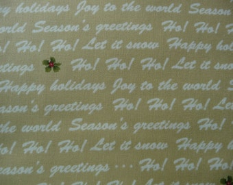 Christmas Words Quilt Fabric, Benartex 3485 Winter Wishes Michele D'Amore, Christmas Text Fabric, Christmas Quilt Fabric, Cotton