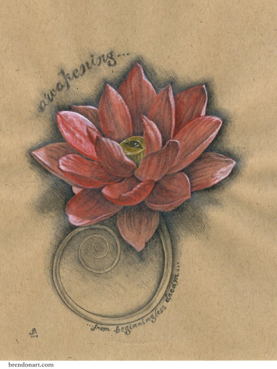 cool articles similaires rveil yeux lotus fleur de lotus original dessin sur papier sur etsy. Black Bedroom Furniture Sets. Home Design Ideas
