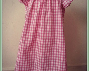 Girls Gingham Summer Dress -  Made to Order