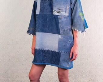 SilkDenim Sarah's Dress Made from 100% Recycled Denim