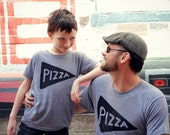Matching Father Son Shirts, Father Daughter Pizza T shirts, last minute gift for him child gift for dad, gift from kids, for dad pizza party