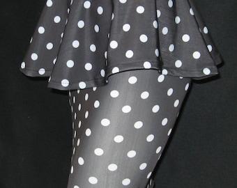 Handmade pin up peplum belt and pencil skirt
