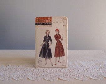 1950s dress pattern / Butterick 6690 sewing pattern for a 2-piece suit Dress Old Hollywood Glam