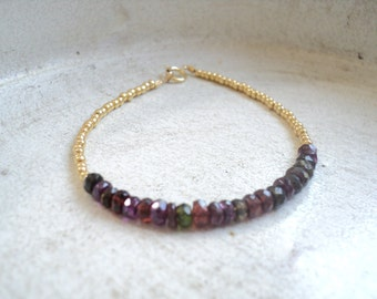 Seed Bead and Gemstone Stacking Bracelets