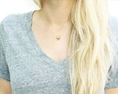 Gold Ball Necklace - Gold layering necklace, dainty gold necklace, delicate boho layering necklaces. Gold filled jewelry