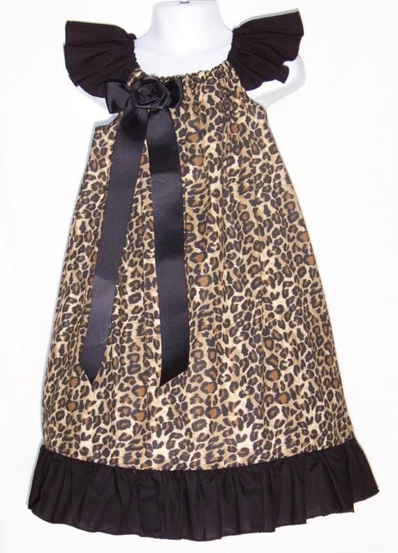 Leopard & Black Dress Ruffle Safari Cheetah Beautiful