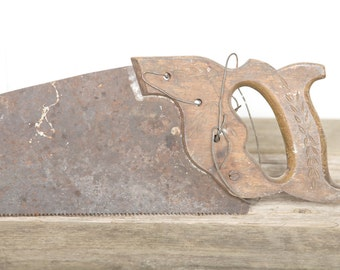 Vintage Hand Saw / Antique Saw / Old Metal Saw / Vintage Tool / Wood Saw / Vintage Saw / Old Saw / Old Tools / Vintage Tool