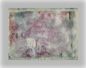 Large Original Dusty Rose  Blue Winter Painting Abstract Modern Fine Art  Textured Acrylic  Lost in the Chill  36x48x2 -Sherischart