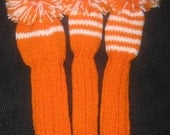 Golf Club Head Covers, Hand Knit