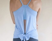 NEW! Backless Yoga Tank - 'Ekadasa' with Built-in Bra Support - Women's Yoga Clothes