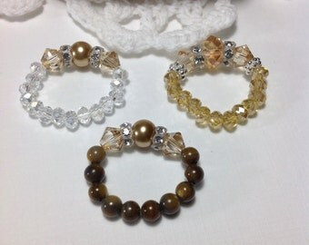 Free Shipping - Connection - Swarovski Crystal Stretch Rings/Zen Crystal Stretch Rings/Mala Crystal Stretch Rings/Crystal StretchRings