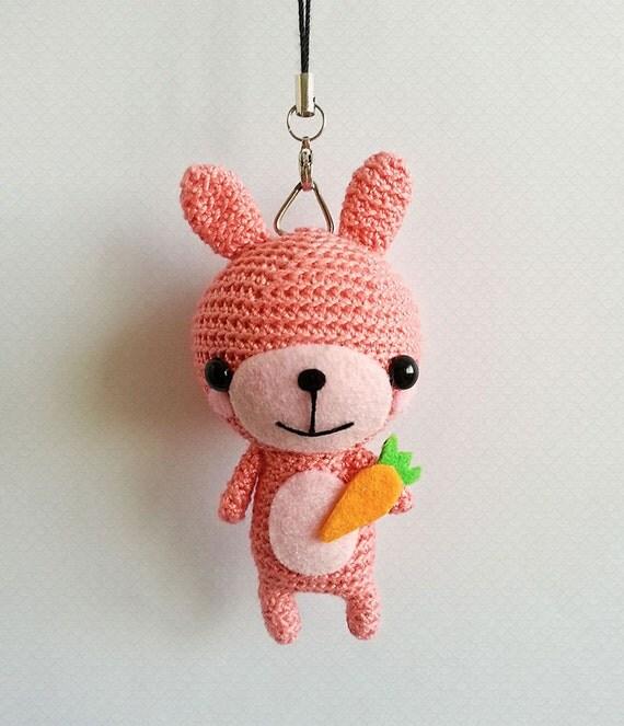 Crochet Rabbit Keychain Crochet Bunny Rabbit Amigurumi Doll