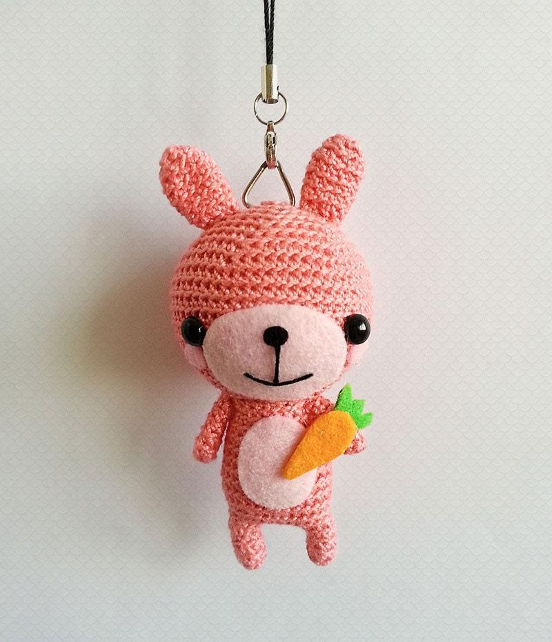 Amigurumi Bunny Keychain : Crochet Rabbit Keychain Crochet Bunny Rabbit Amigurumi Doll
