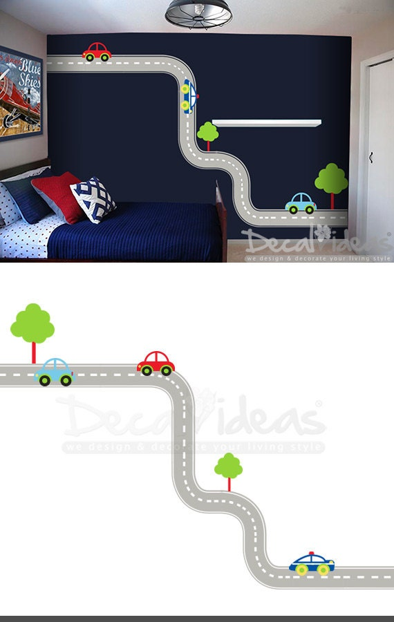 Car Nursery Wall Decor : Car wall decals baby boy nursery oversized