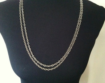 Double-Strand Necklace // Chain-link Necklace // Vintage Necklace