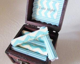 Boyfriend Birthday Gift, Boyfriend Anniversary Gift, Date Night Scroll Box, Girlfriend Anniversary Gift, Girlfriend Birthday Gift, Date Idea