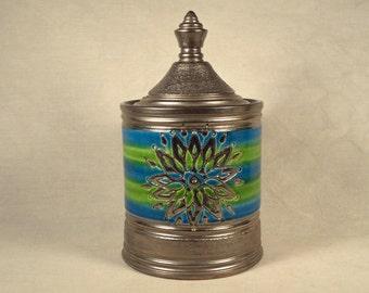 Rosenthal Netter Jar Bitossi Rimini Blue Green Silver