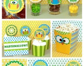 Owl Birthday - Owl Party - Owl Birthday Printables - Owl Party Printables - Girl or Boy Owl Birthday Decorations (Instant Download)