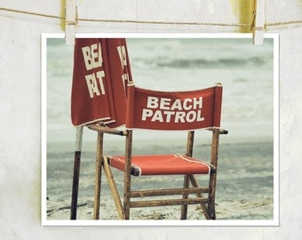 Beach Patrol -  Hilton Head Island, fine art film photography, beach house decor, beach photography, Beach Chair Photography, Ocean