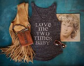 """Womens Music Lyric Tank Top  """"Love Me Two Times Baby"""""""