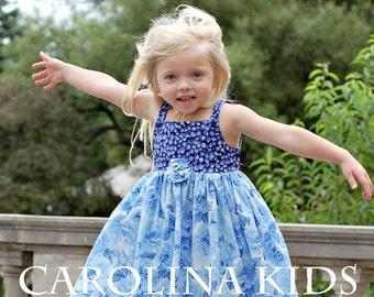 Adorable NWT Boutique Designer Carolina Kids Blueberry Rose Sundress 9 months