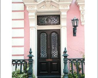 Charleston Doors, Charleston Photography, Charleston Pink White Black Door, Charleston French Quarter Doors, Charleston Romantic Pink House