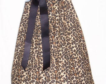 Leopard & Black Dress / Ruffle / Safari / Cheetah / Beautiful / Animal Print / Infant / Baby / Toddler / Boutique Clothing
